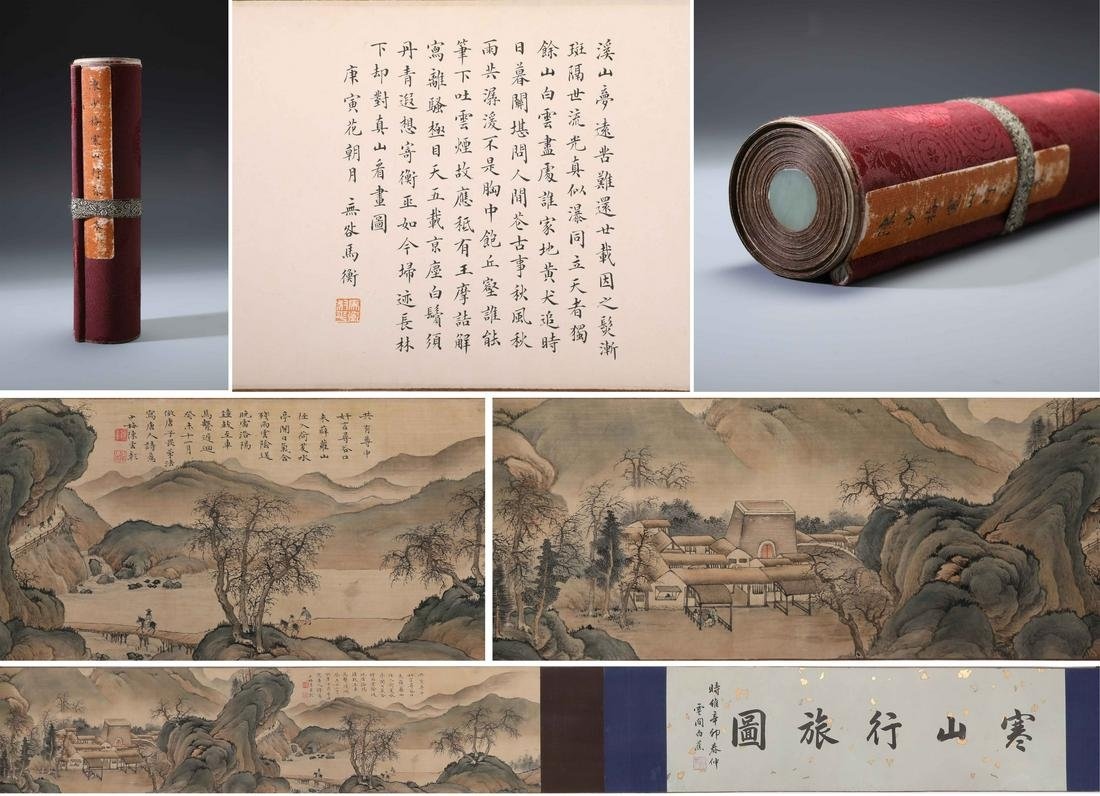 A Chinese Hand-drawn Painting Scroll Signed By Chen