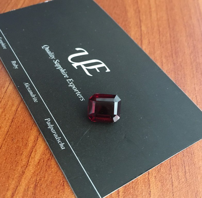 5.9 CTS Natural unheated Red garnet - 4
