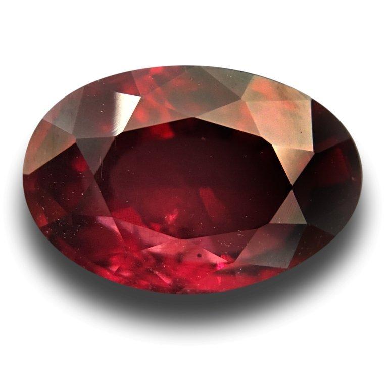 4.58 CTS Natural unheated Purplish Red Garnet