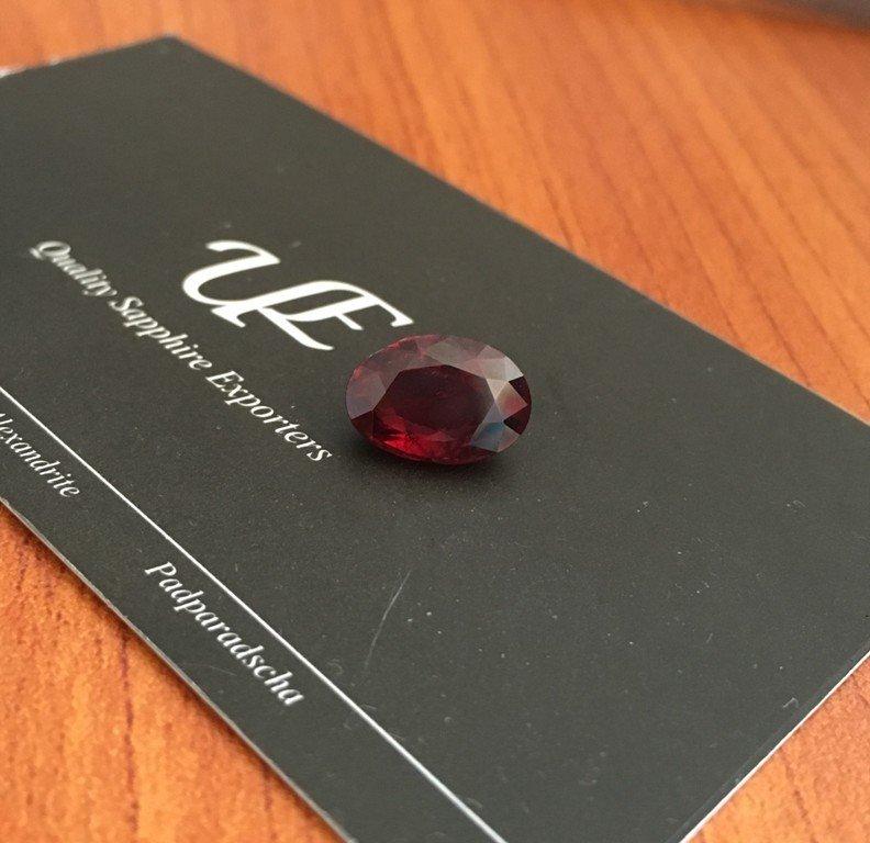 4.58 CTS Natural unheated Purplish Red Garnet - 5