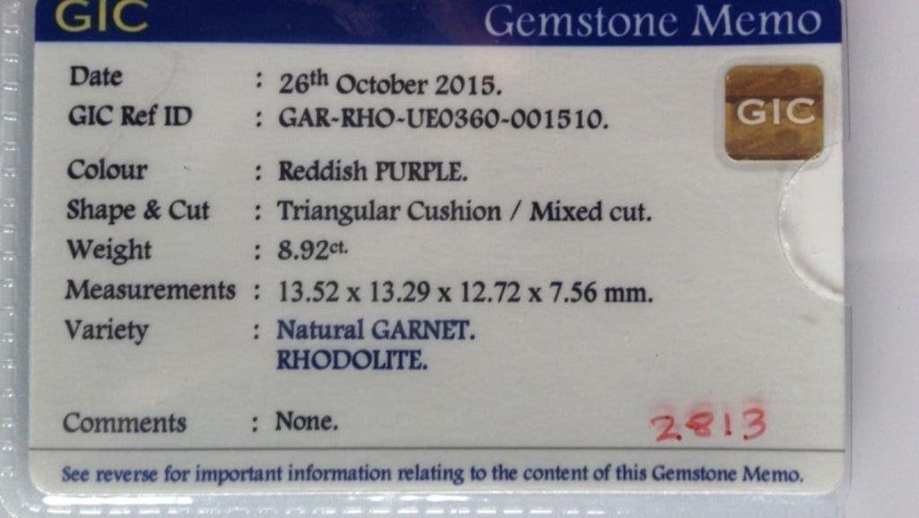 8.92 Carats Natural Unheated Garnet Rhodolite - 6