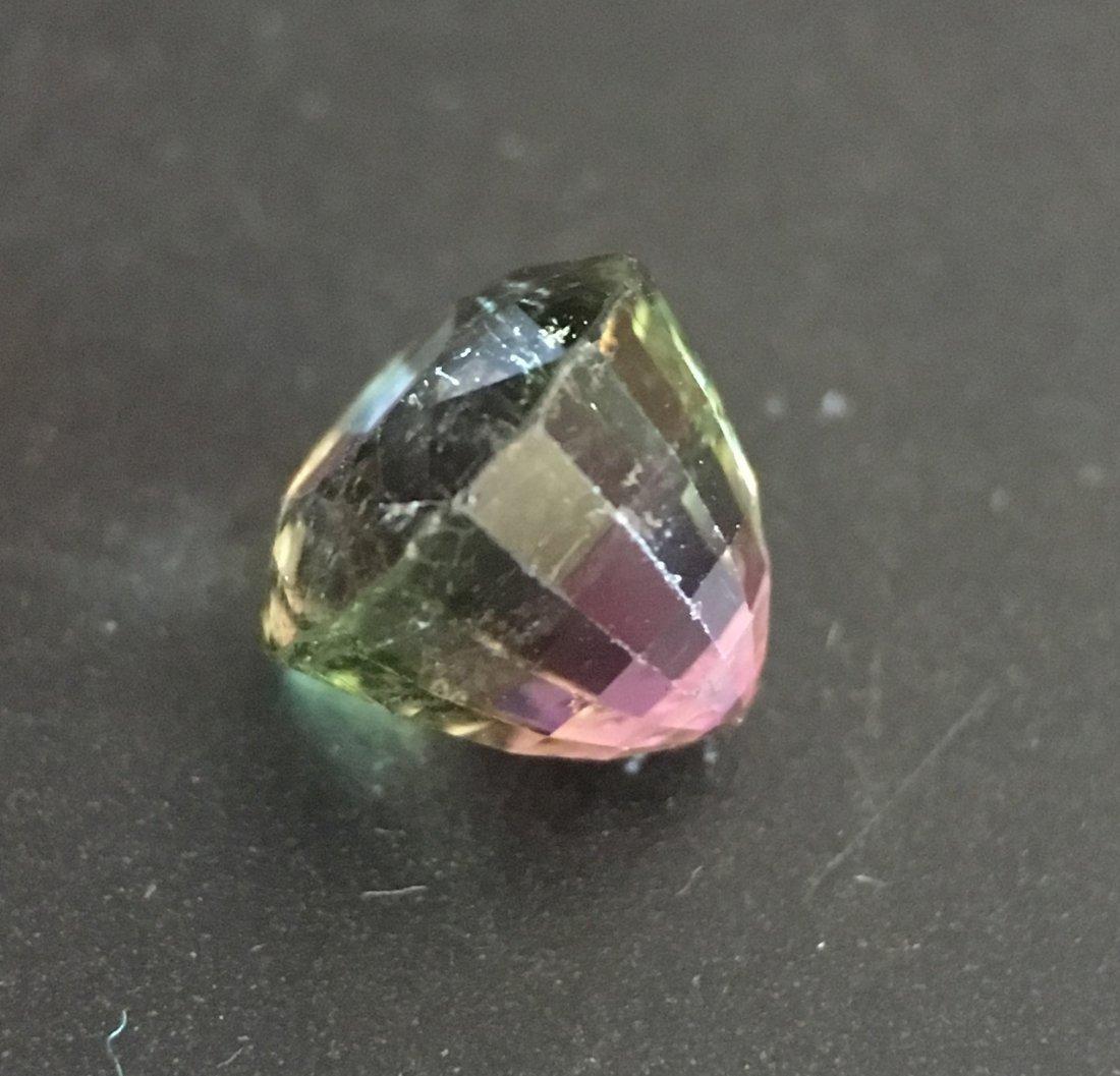2.53 CTS  Natural Green - Orange Pink Tourmaline - 2