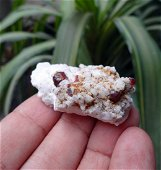 Red Spassertne Garnet Crystals On feldspar