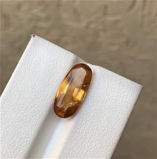 Yellowish Calcite Cut Gemstone