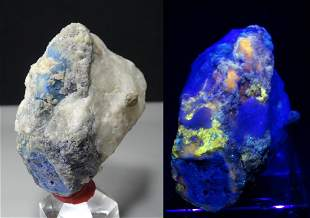 Fluorescent Rare AFGHANITE Crystals D/T Crystal