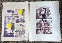 Two [2] SOCIAL MOVEMENT LITHOGRAPHS, Low # Editions
