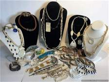 Grouping of Assorted Estate Costume Jewelry. 55 Pieces