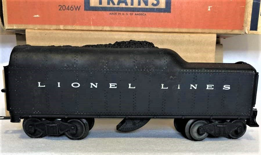 Lionel 2046 W Tender With Whistle in Original Box - 2