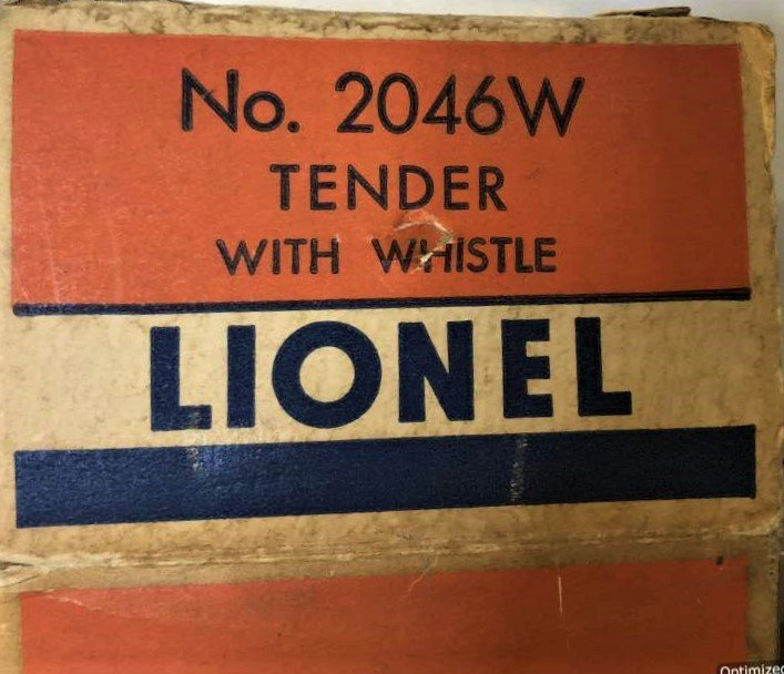 Lionel 2046 W Tender With Whistle in Original Box - 3