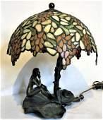 Gustave Gurshner, Austrian Bronze Sculpture Lamp Nude