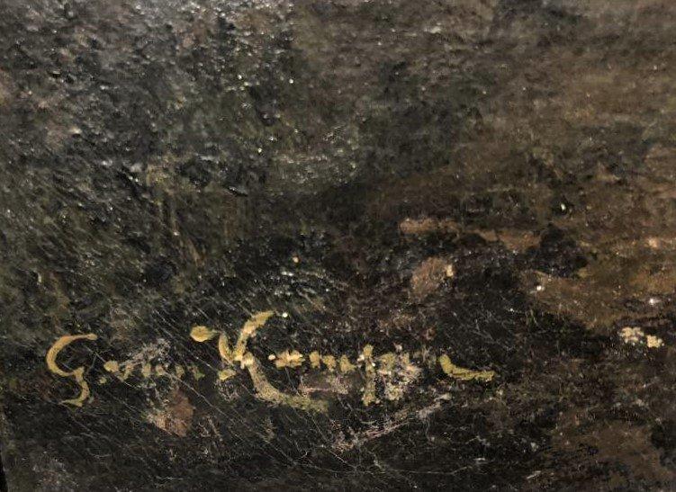Barbizon Landscape Oil Painting Signed Illegible - 7