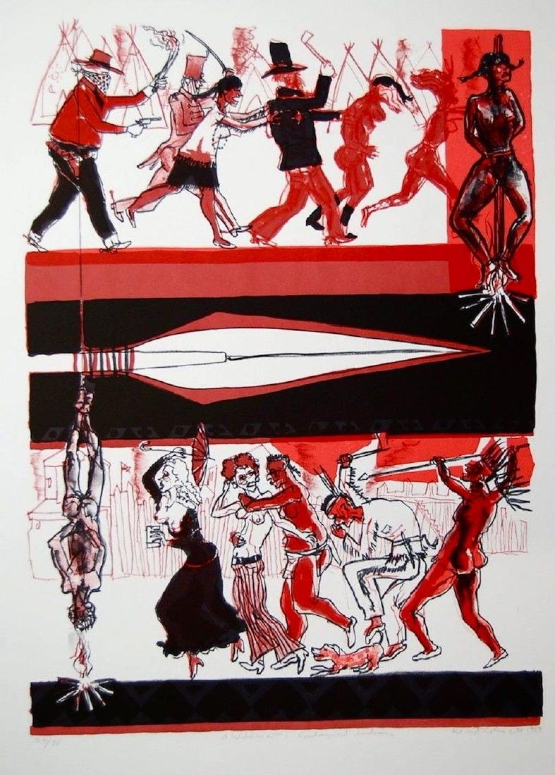 Cowboys & Indians, 1969 Limited Edition Lithograph,