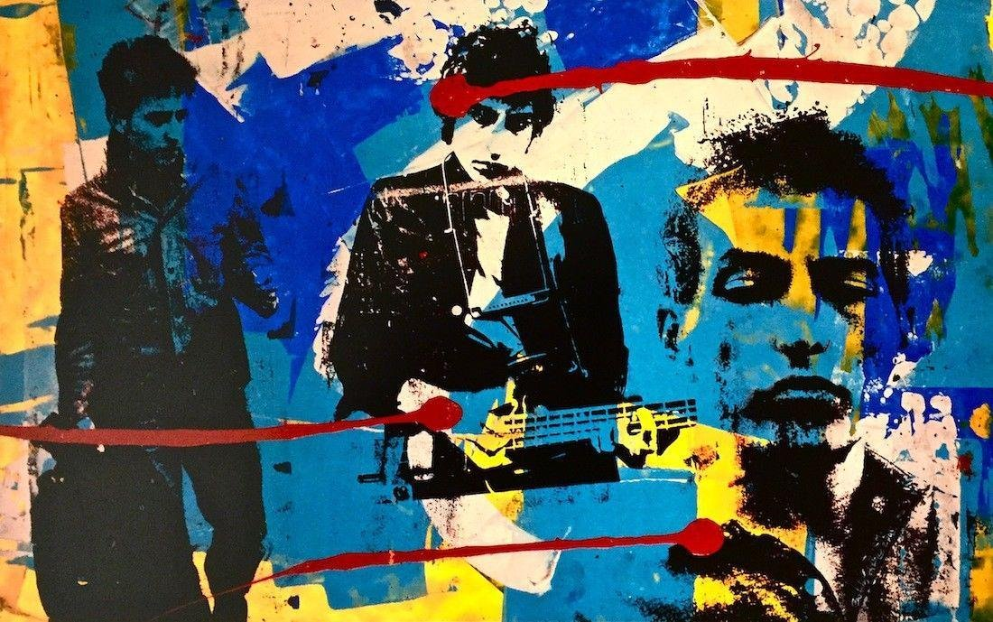 Bob Dylan Collage I, Offset Lithograph, Bobby Hill