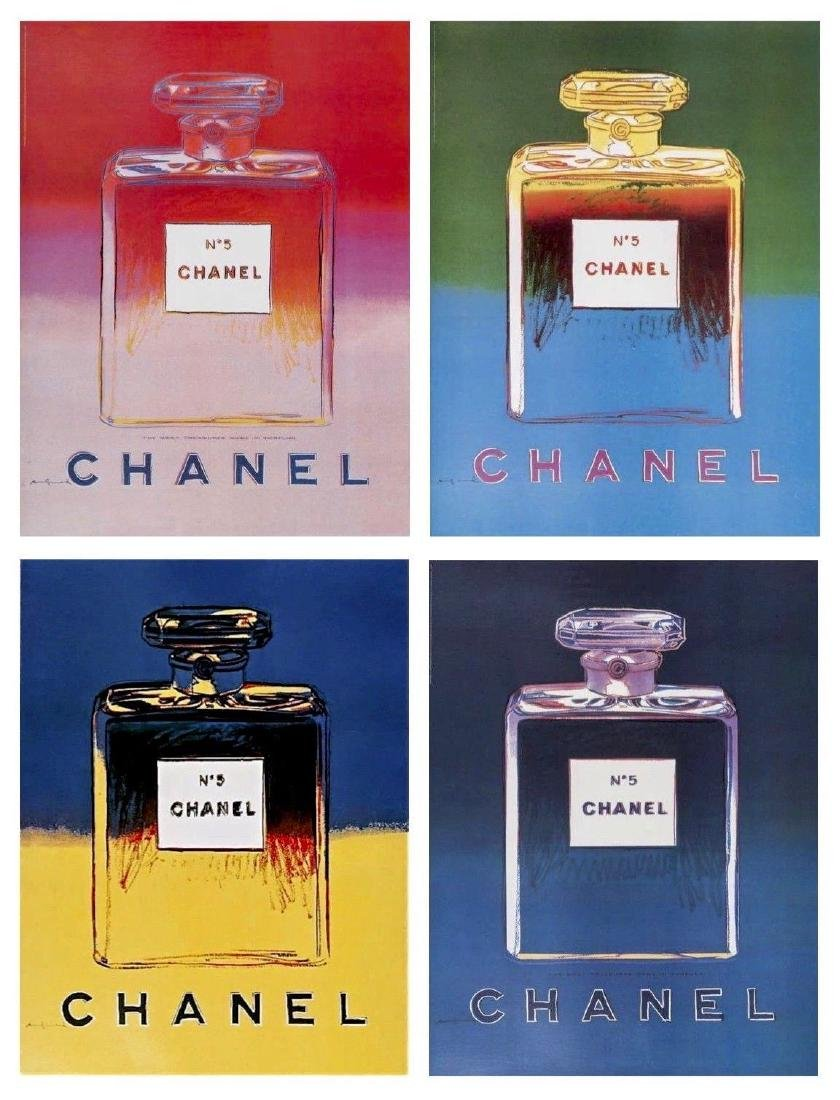 Chanel Suite, 4 Offset Lithographs Mounted on Canvas,