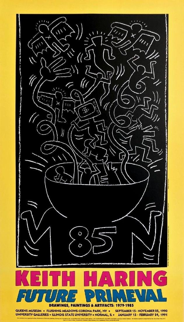 Future Primeval, 1990 Exhibition Poster, Keith Haring
