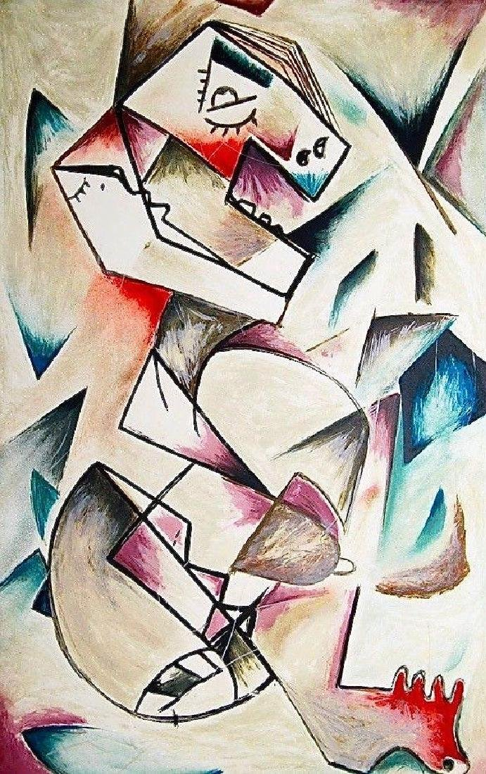 Geometric Look, Limited Edition Lithograph, Alexandra