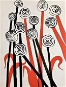 Les Fleurs, Limited Edition Lithograph, Alexander