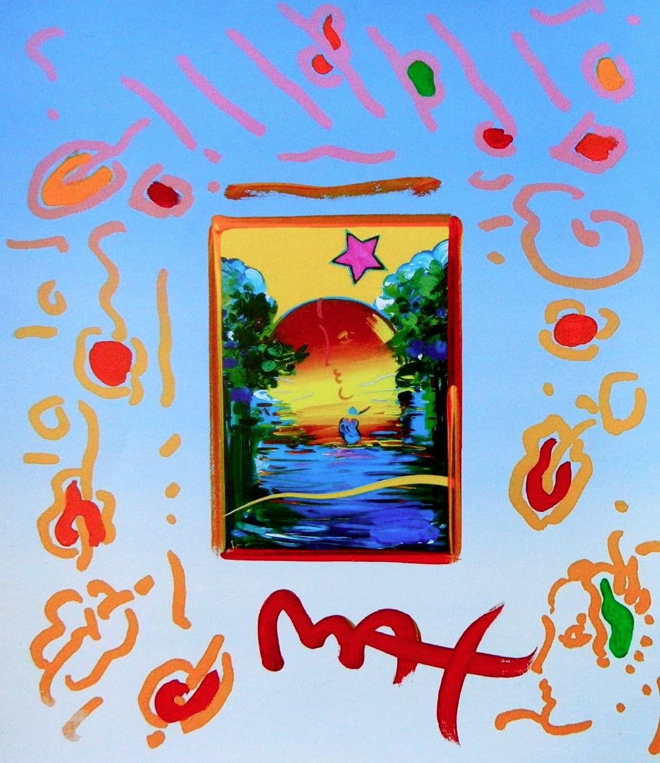 Better World, Original Mixed Media Painting, Peter Max