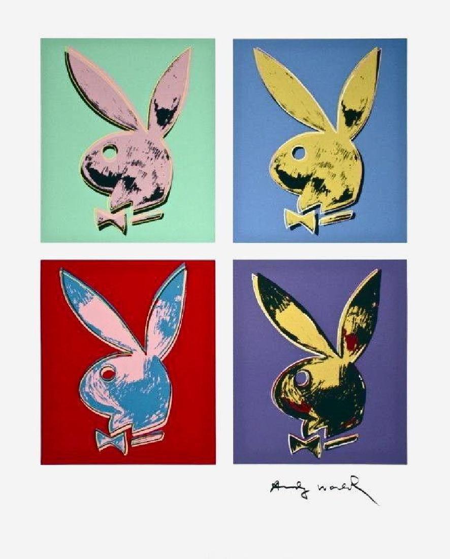 Playboy Bunny (Quad), Silkscreen, Andy Warhol