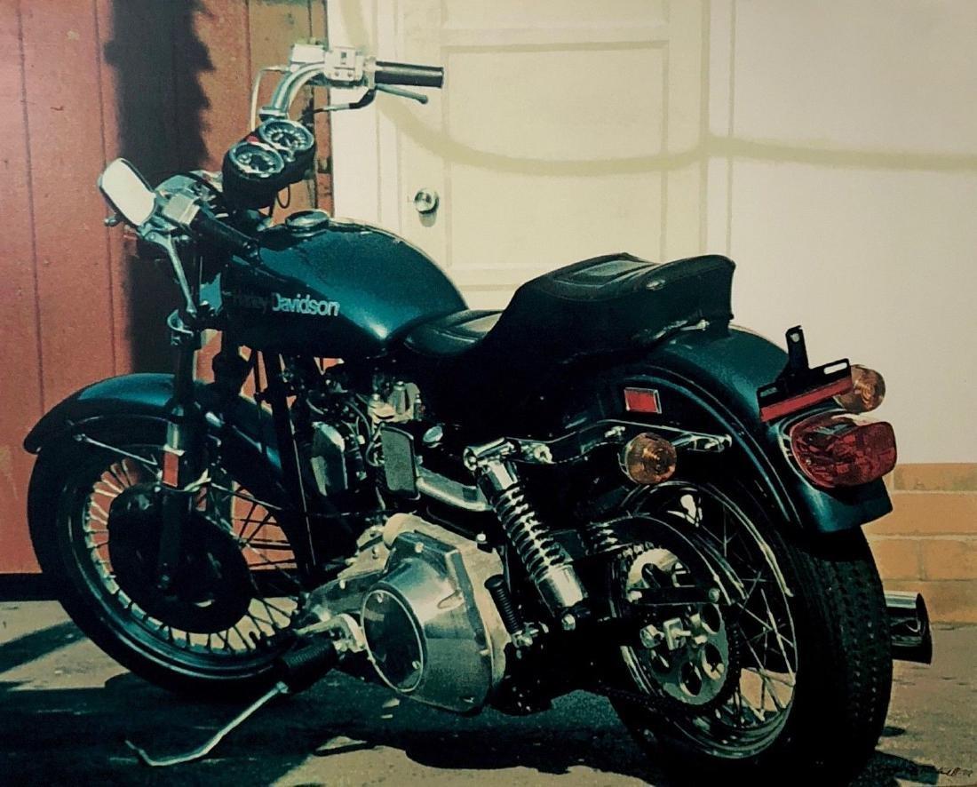 Santa Monica Harley, Silkscreen on Masonite, Tom