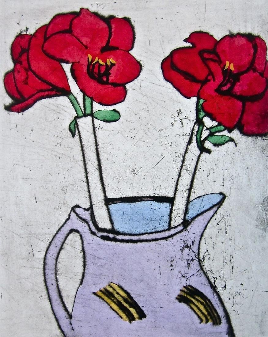 Amaryllis, Limited Edition Colored Etching, Richard