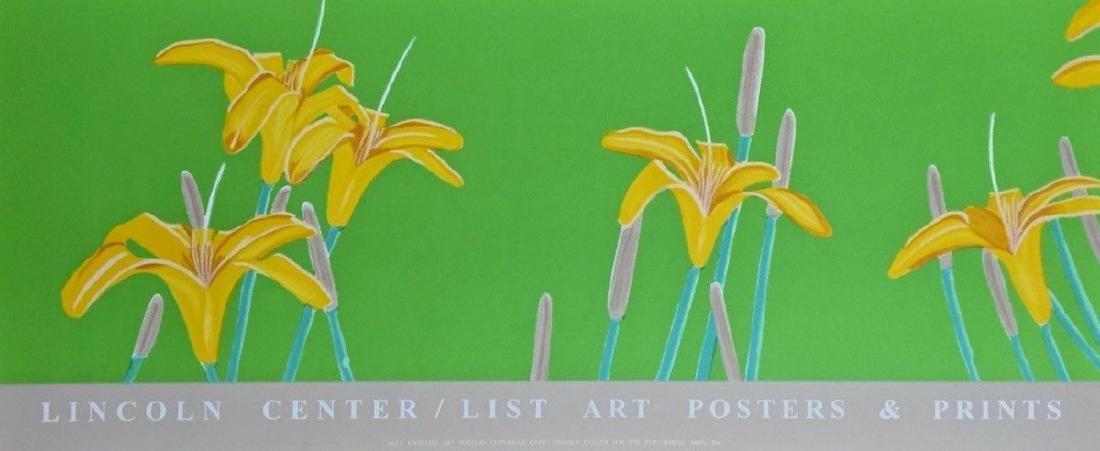 Day Lilies, 1992 Exhibition Silkscreen Poster, Alex