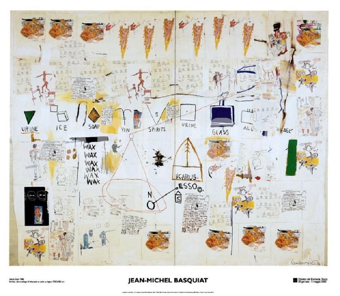 Icarus, 2002 Exhibition Poster, Jean-Michel Basquiat