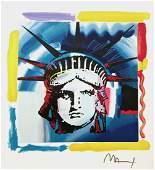 Liberty Head, Limited Edition Silkscreen, Peter Max