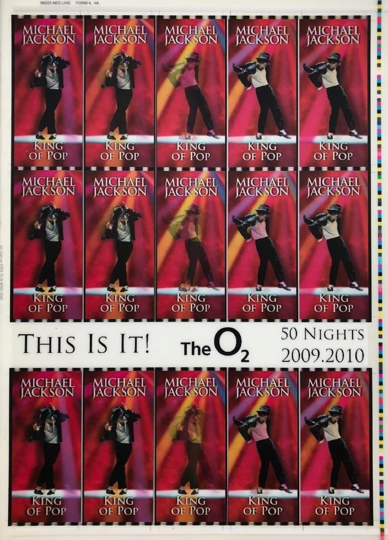 This Is It! Uncut 2009 Lenticular Concert Ticket Sheet