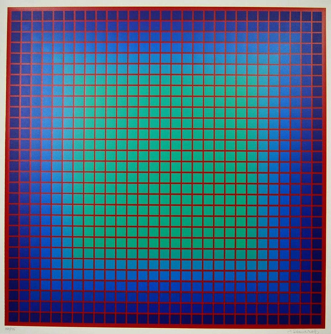 Conferring Blue, 1978 Limited Edition Silkscreen,