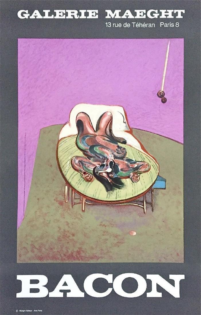 Personnage Couche, Original 1966 Exhibition Poster,