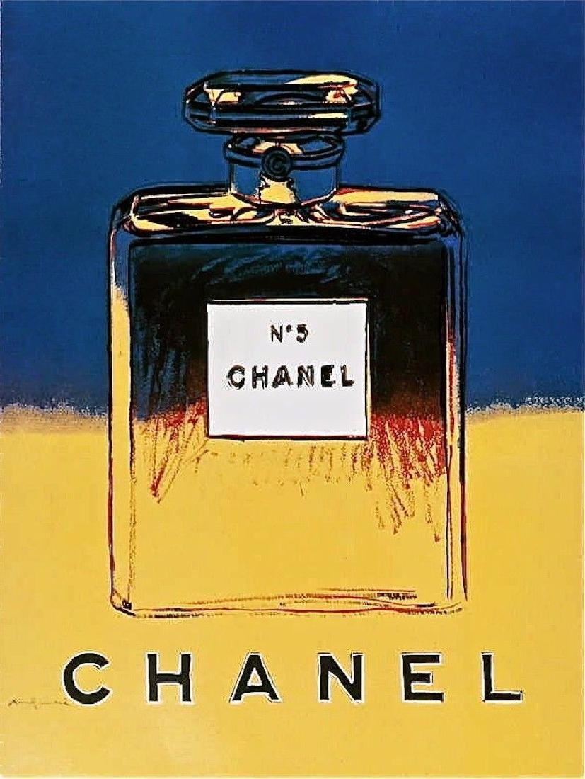 Chanel Yellow & Blue Offset Litho on Paper Mounted on