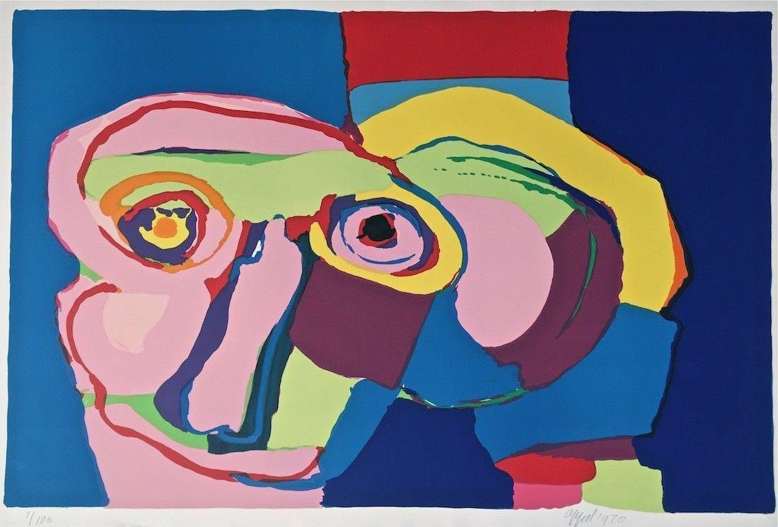Dream Colored Head, 1970 Limited Edition Silkscreen,
