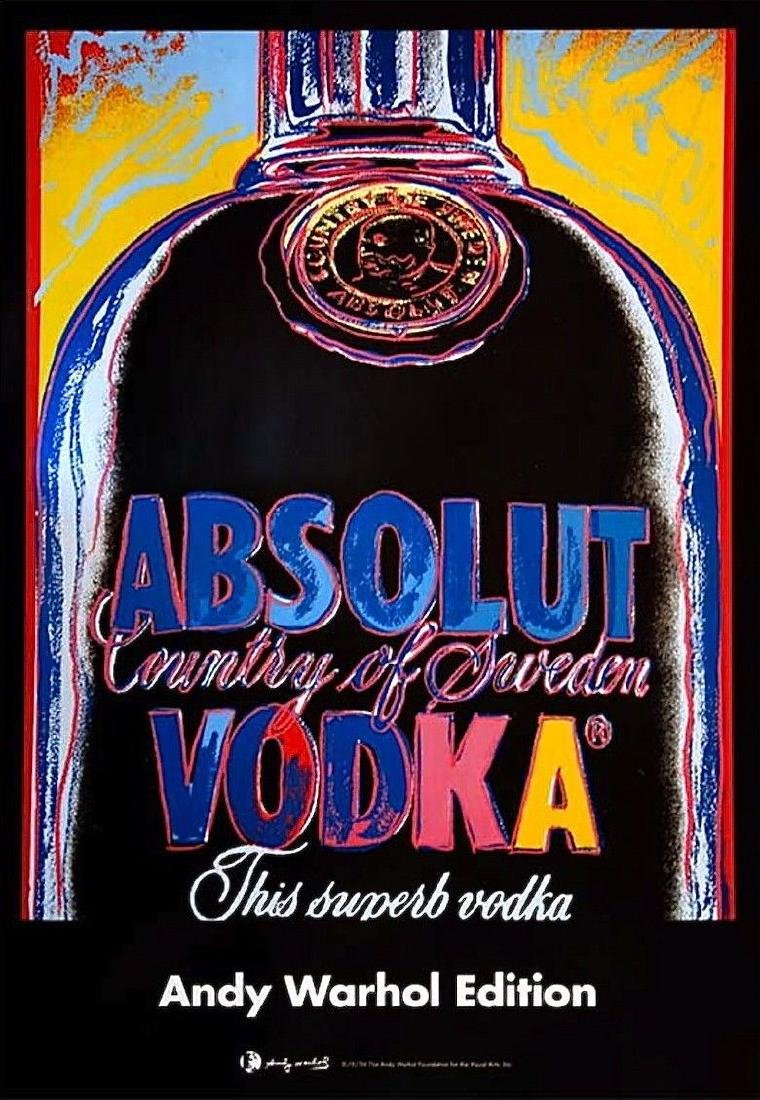 Absolut, Offset Lithograph on Paper Mounted on Canvas,