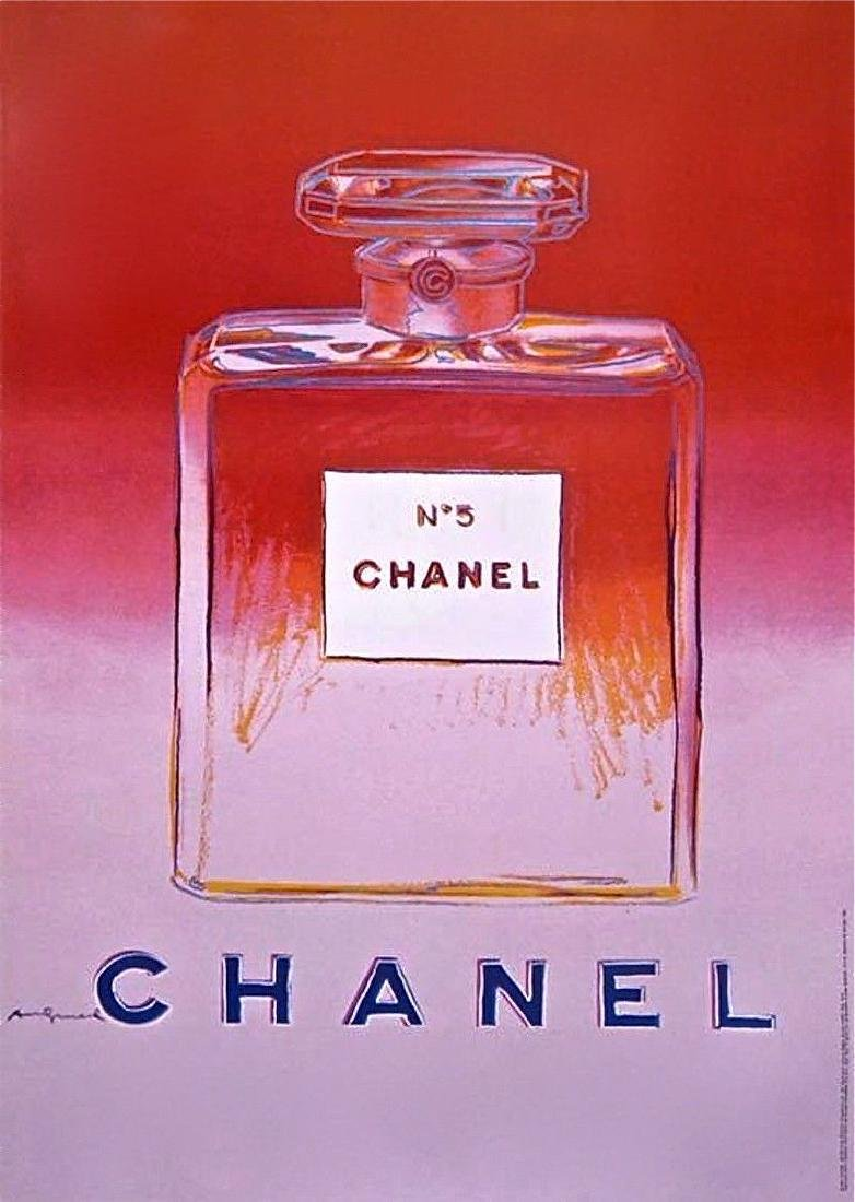 Chanel Red & Pink, Offset Lithograph on Paper Mounted