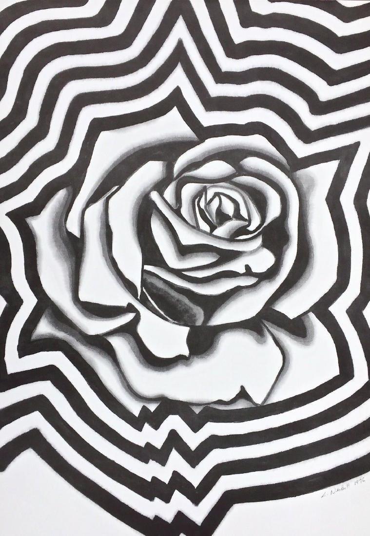 Electric Rose, 1976 Offset Lithograph, Lowell Nesbitt