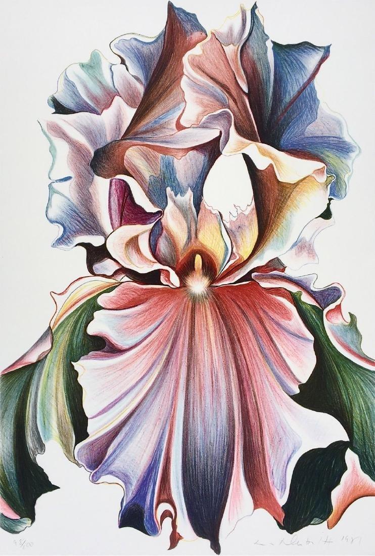 Iris, Limited Edition Lithograph, Lowell Nesbitt