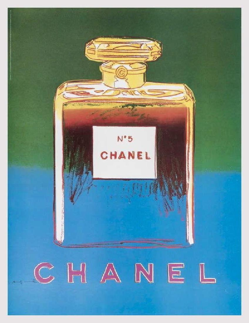 Chanel (Green & Blue), Offset Lithograph on Canvas,