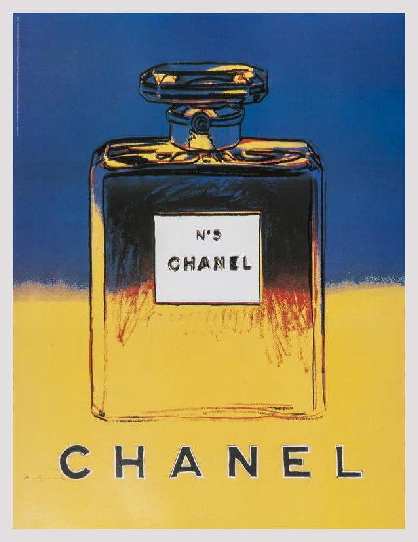 Chanel (Blue & Yellow), Offset Lithograph on Canvas,