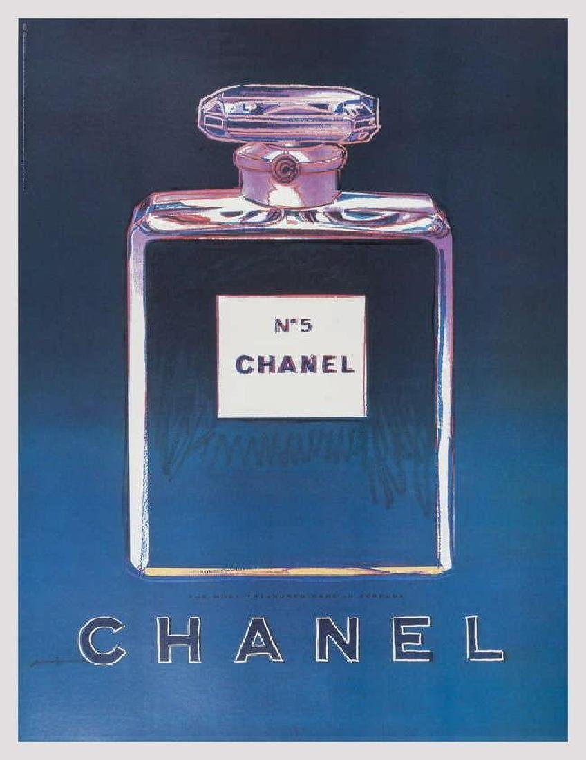 Chanel (Blue & Purple), Offset Lithograph on Canvas,