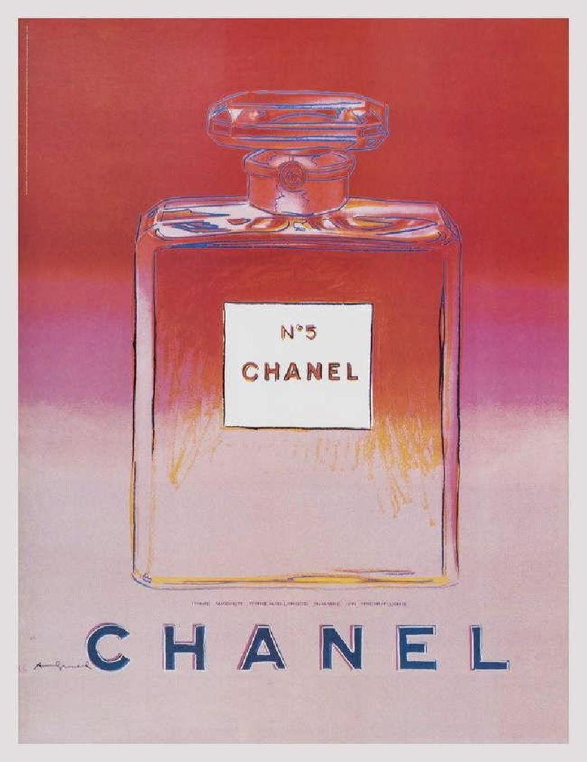 Chanel (Red & Pink), Offset Lithograph on Canvas, Andy