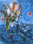 La Dormeuse aux Fleurs, Ltd Ed Offset Lithograph, Marc