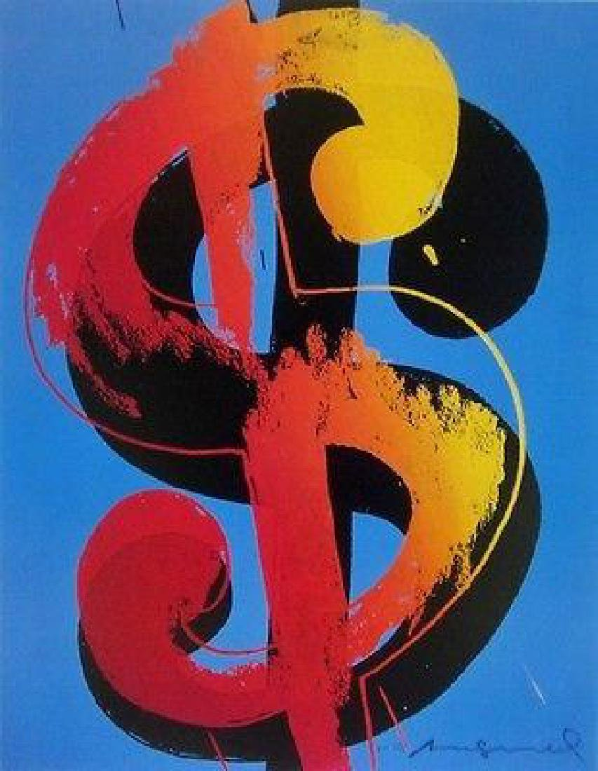 Dollar Sign, Offset Lithograph, Andy Warhol
