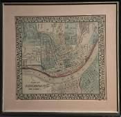 Colored Map - City Plan of Cincinnati, Ohio