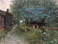 """George Edward Hopkins (American, 1855-1925), """"Farm"""