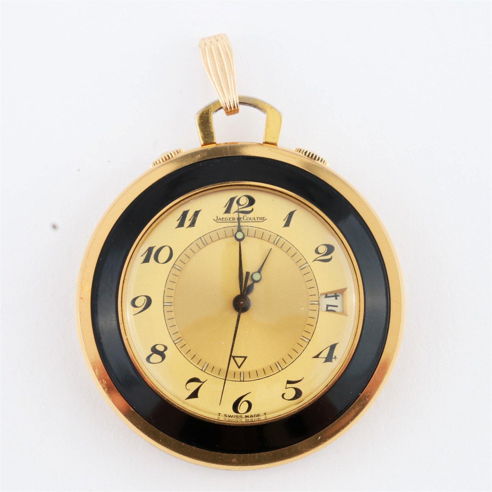 Jaeger-LeCoultre Gold Tone Traveling Alarm Clock