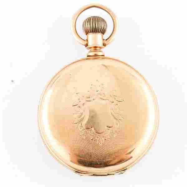 Antique Elgin Watch Co. 14K Yellow Gold Pocket Watch