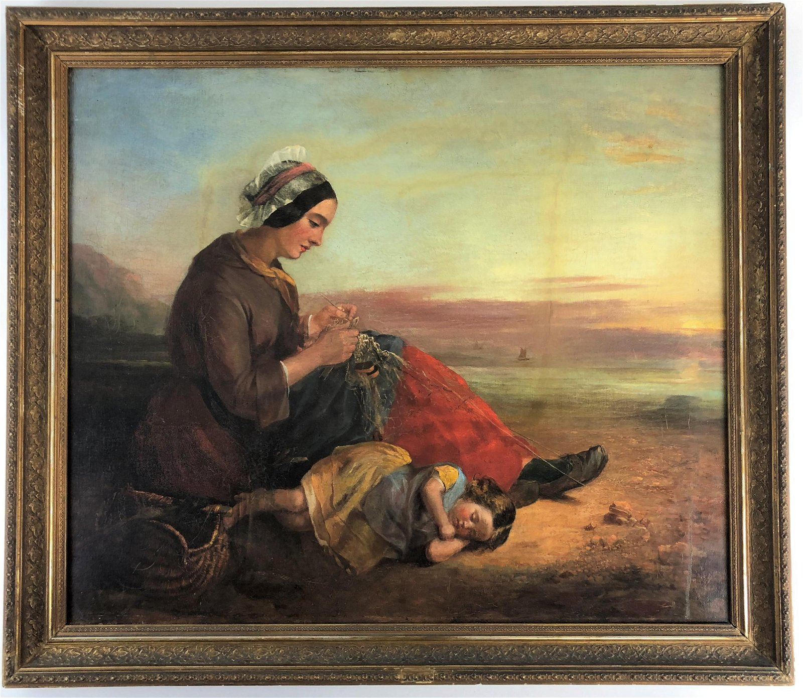 James Curnock (British, 1812-1862), Oil on Canvas