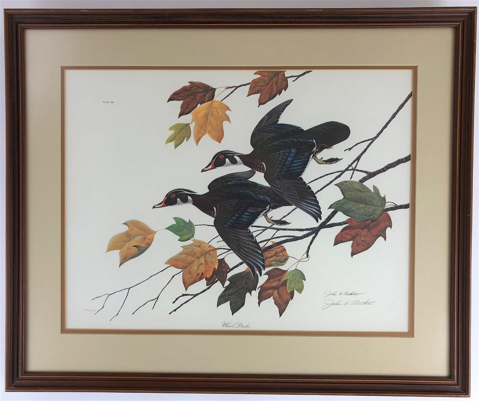 "John Ruthven Signed Lithograph, ""Wood Ducks"""