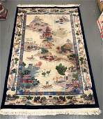 Chinese Art Deco Pictorial Area Rug
